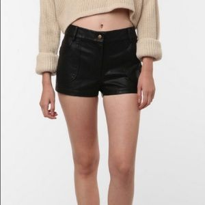 UO Lucca Couture Faux Leather Shorts